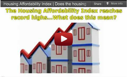 Housing Affordability Index – Does it Matter to You?